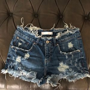 Zara Denim Shorts. Smoke free home.